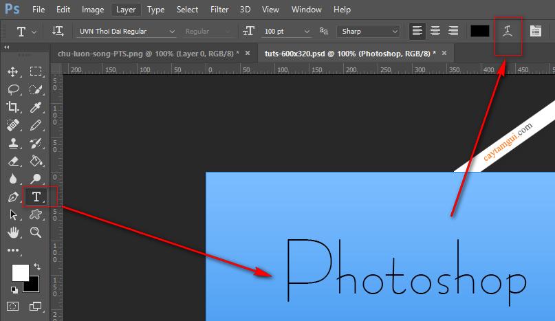 Hướng dẫn tạo chữ lượn sóng trong Photoshop