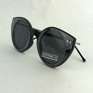 NEW Spitfire Alpha Black & Clear Sunglasses