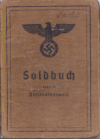Zakboekje van de Duitse soldaat Bartels die in het militair hospitaal van Enschede terrecht komt tijdens de oorlog. Collectie: Erich Stapersma