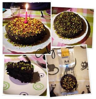 Dark chocolate vegan cake