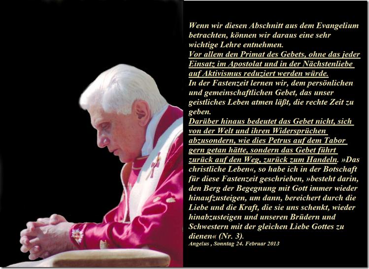 Aus letzter Angelus über Gebet