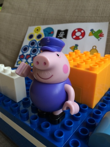Peppa pig pirate ship construction set instructions