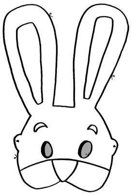 CONEJO mascara de animales  para colorar (44)_thumb