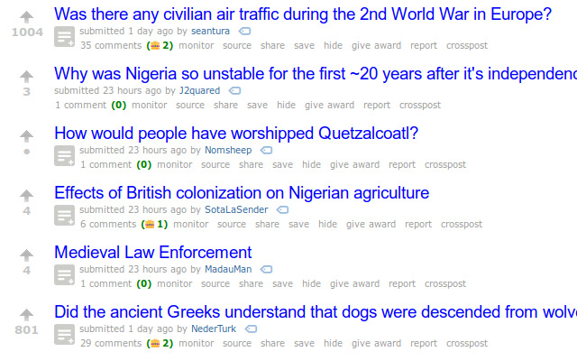 Ask Historians Comment Helper