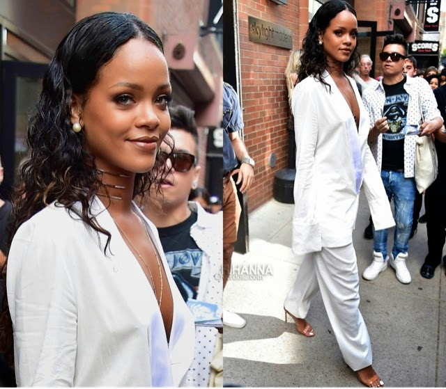 Rihanna in Edun