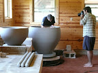 We documented one of David's large pots being built in his studio.