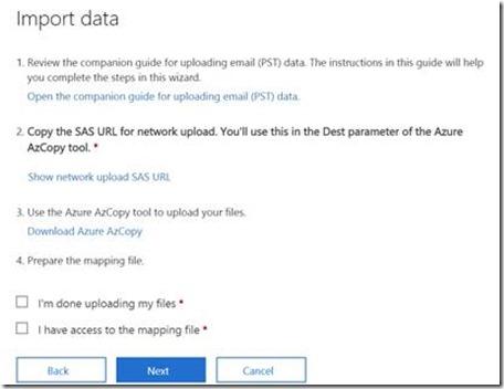 Kevin Oppihle's Tech Notes: 365 Bulk PST upload using Azure