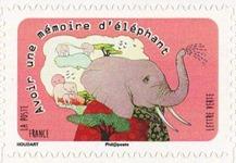 timbre France A1315 mémoire d'éléphant