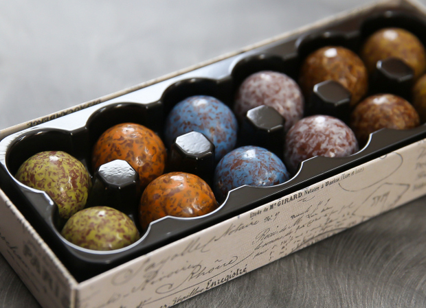 photo of a box of Chocolate Marbles