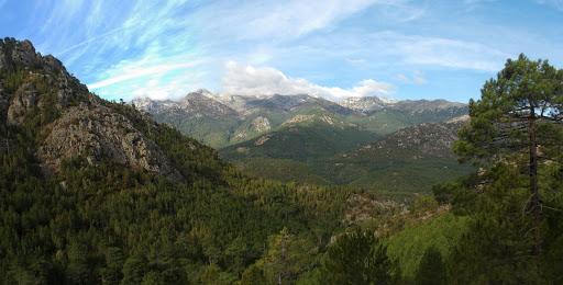 Depuis le ravin de l'affluent sans nom du Vaglie, le massif du Renosu (photo Olivier Hespel)