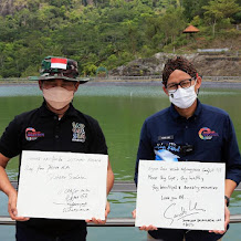 Sandiaga Uno Pengunjung Pertama Nglanggeran, Simbol Indonesia Bangkit