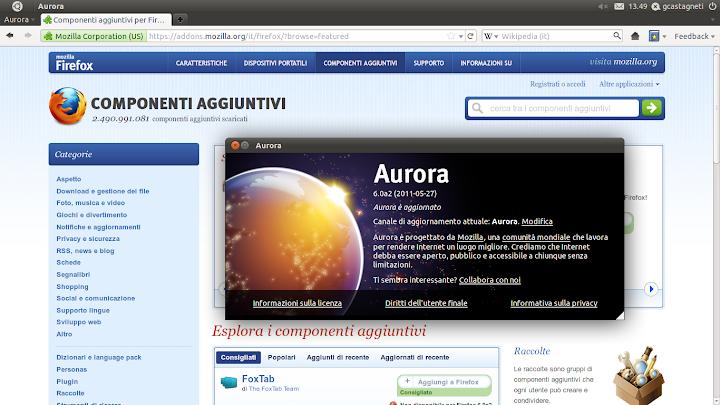 Firefox Aurora 6 rilasciato! - Lffl org