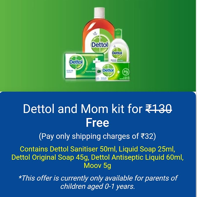 Lybrate – Get Dettol and Mom Kit at Rs 32 Only (MRP Rs.132)
