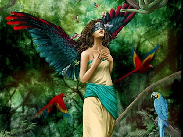 Birds And Mask Fantasy Girl, Magic Beauties 2