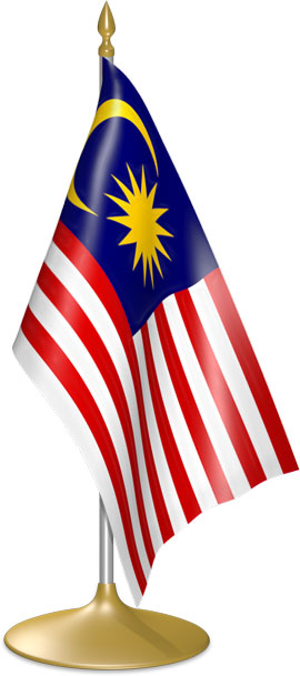 Malaysian table flags - desk flags
