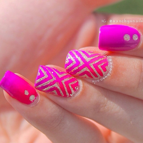 25 Beautiful And Classy Matte White And Pink Nail Design