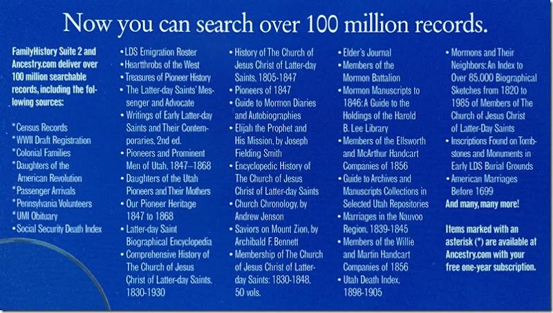 LDS系列历史套件数据库列表