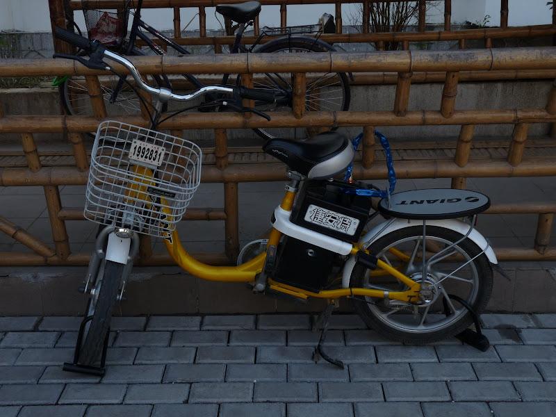 Suzhou.Trois antivols, un minimum en Chine, quoique que chez nous...