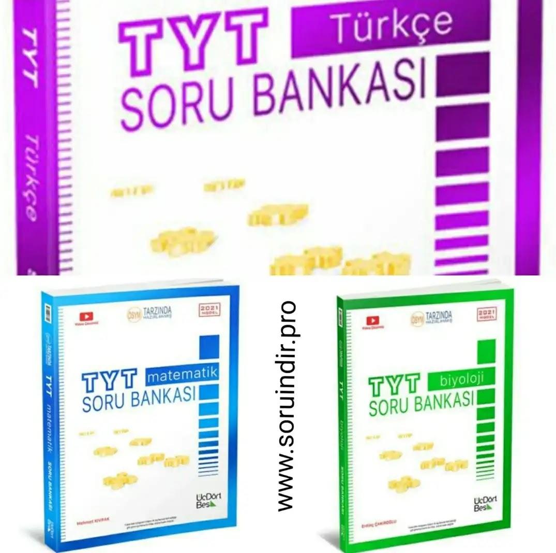 345(üç dört beş) 2021 TYT Matematik - TYT Biyoloji - TYT Türkçe Soru Bankası PDF İndir