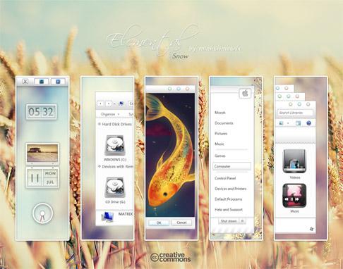 Slave Theme for Windows 7,windows seven,dark
