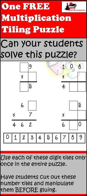 Tiling Puzzle - Multiplication 2 digit