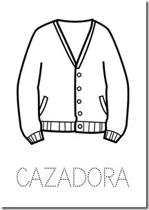 Cazadora ropa dibujos colorear pintaryjugar  (20)