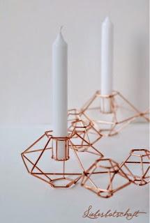 porta-velas de cobre