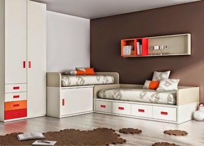 Dormitorios juveniles y habitaciones infantiles con dos camas for Habitaciones juveniles 3 camas