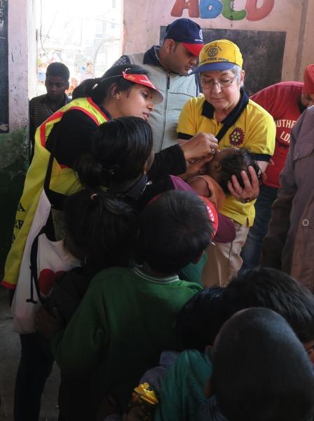 Shalini Vaccinating