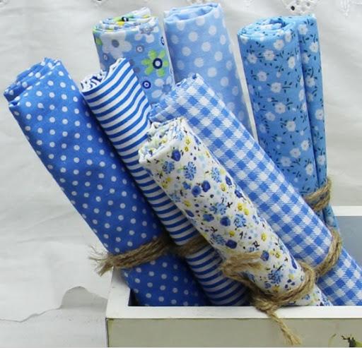 Rollos de telas de algodón estampado