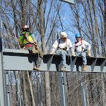 Working together on steel beam