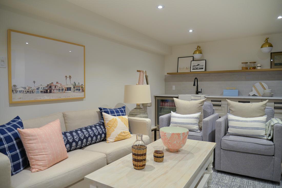 simply white benjamin moore basement, simply white oc-117 basement, simply white basement, simply white paint