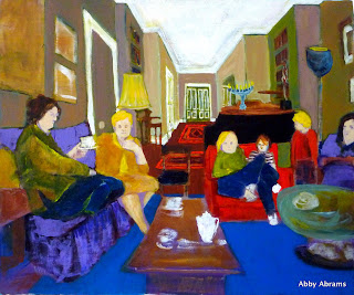 Family mtg.. acrylic on canvas