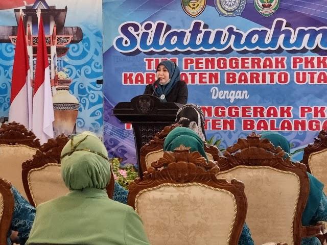 Demi Kemajuan Balangan, Bunda Sri Pelajari Kemajuan di Barito Utara