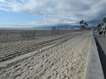 Santa Monica beach from near Strand Ave