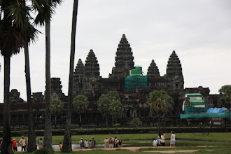 Photo: Year 2 Day 44 -  Angkor Wat (with Scaffolding)