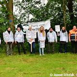 Actie tegen bomen kappen - foto's Jeannet Stötefalk
