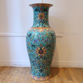 Ceramic Floral Floor Vase