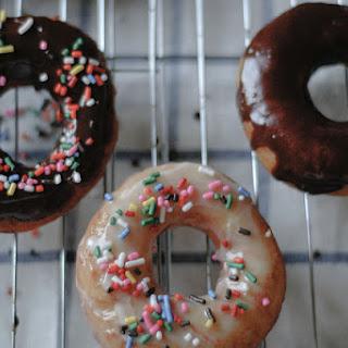 Homemade Glazed Doughnuts.