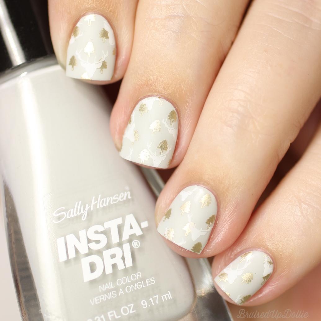 Sally Hansen Insta Dri Seize The Grey + Winter Nail Art ...