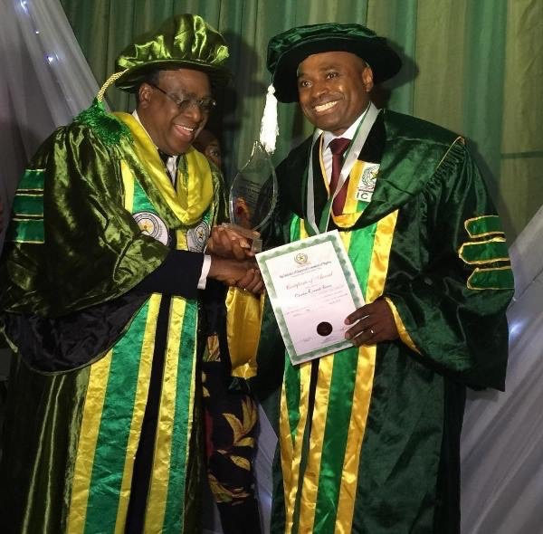 Nollywood actor Kenneth Okonkwo awarded Professional Doctorate Fellowship Award [PHOTOS] 2