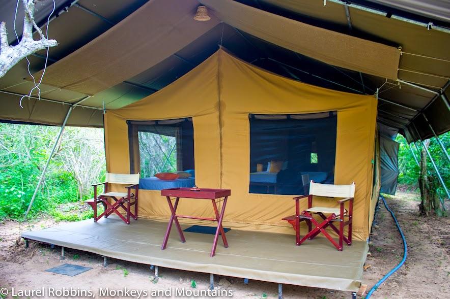 My tent at Wild Trails Yala, Sri Lanka. Glamping at its finest!