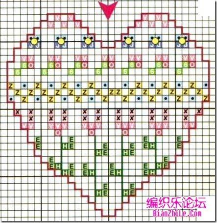 corazones en punto de cruz laborespuntocruz (3)