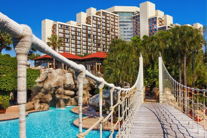 Rope Bridge at Hyatt Regency Grand Cypress SMALL