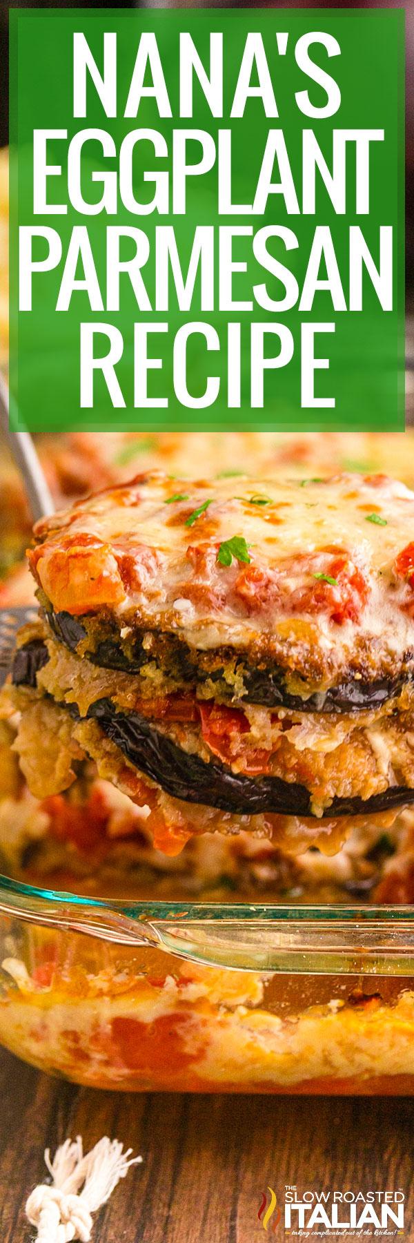 eggplant parmesan recipe closeup