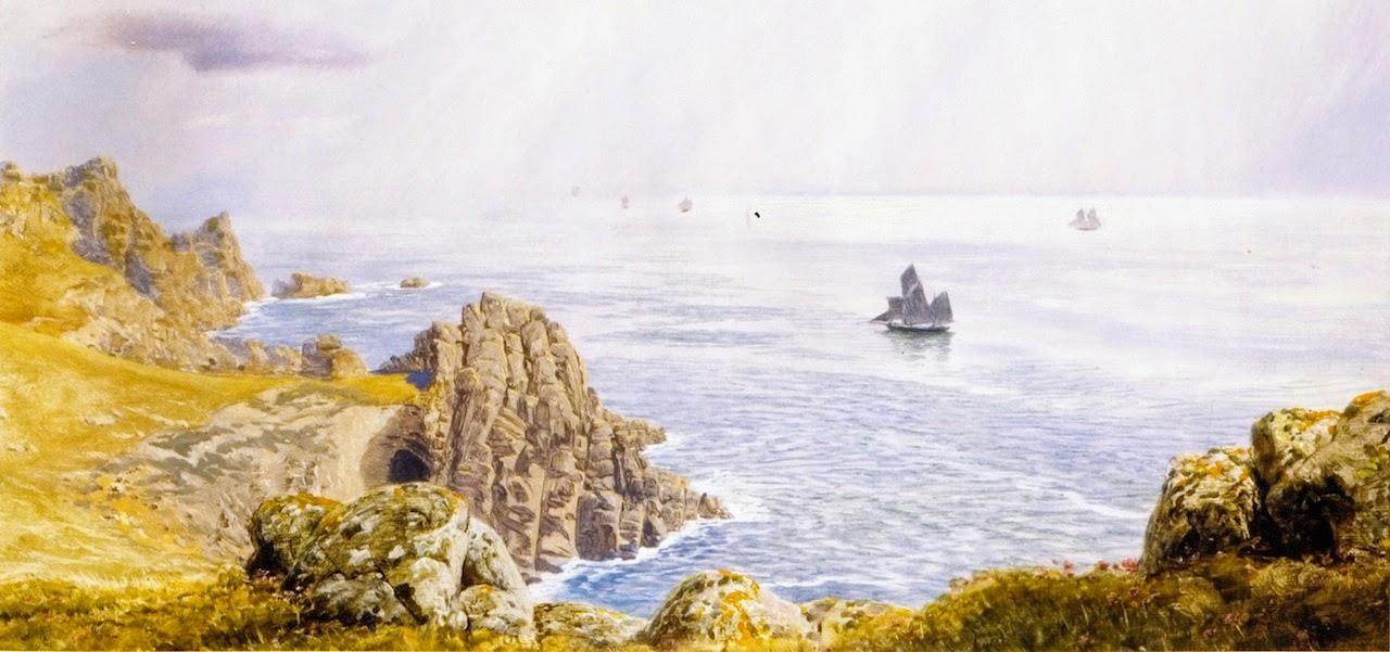 John Edward Brett - Summer Mists off Tol Pedn