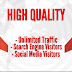 PREMIUM SEO TRAFFIC with Search Engine and Social Media Visitors for