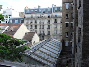 Another view out the bedroom window.  Just a slice of Parisian life.