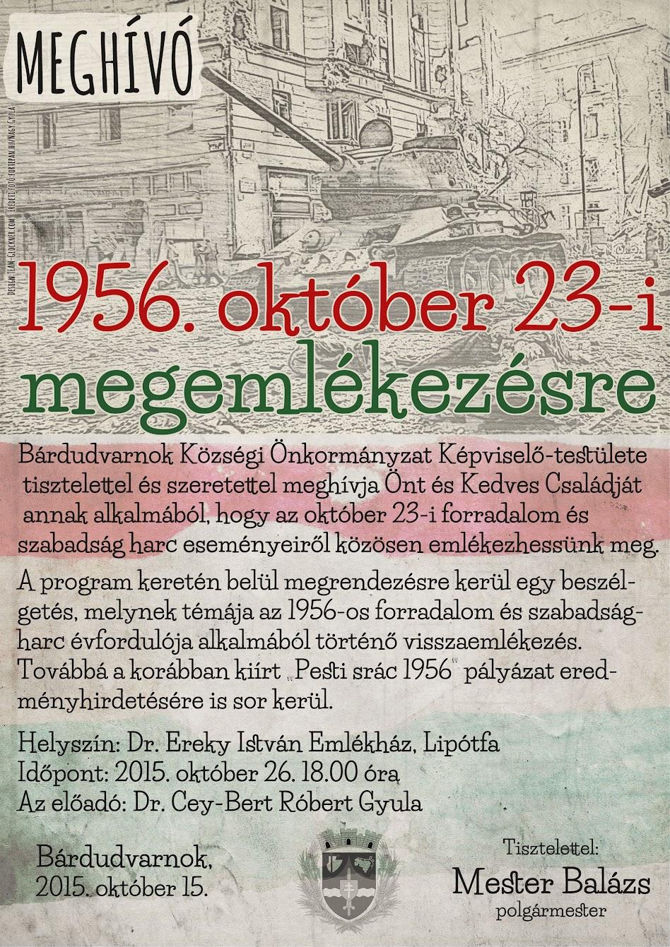 1956-os megemlékezés