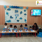 Blue Day Celebration by Playgroup Section at Witty World, Bangur Nagar (2018-2019)